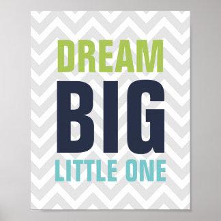 Dream Big Little One Nursery Poster