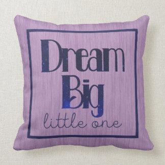Dream Big Little One Purple Stars Pillow