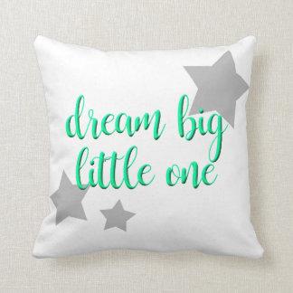 dream big little one simple modern baby throw pillow