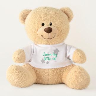 dream big little one simple modern mint baby kids teddy bear