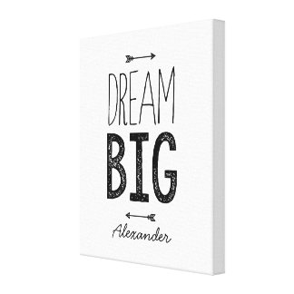 Dream Big! Personalized Wrapped Canvas