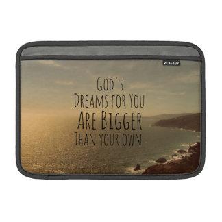 Dream Big Quote MacBook Sleeves