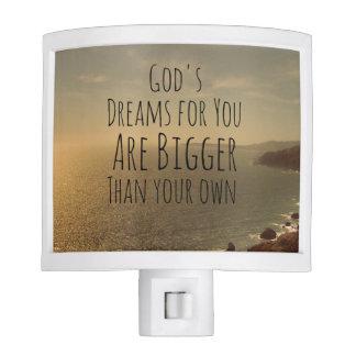 Dream Big Quote Night Lite