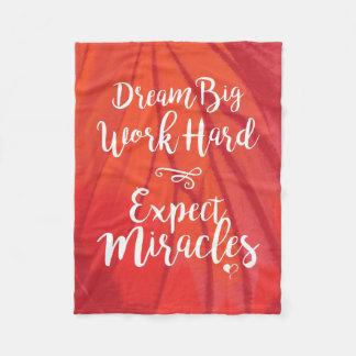 Dream Big Red Fleece Blanket