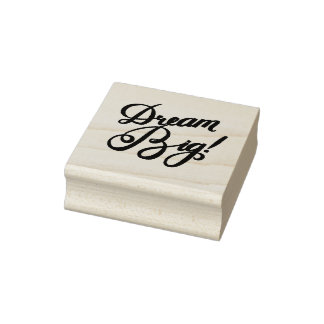 Dream Big Red Rubber Stamp