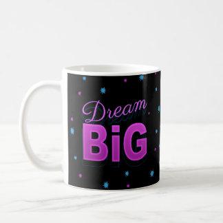 Dream big retro pink black neon 80s 90s style mug