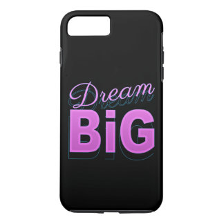 Dream BIG retro style pink black neon 80s t case