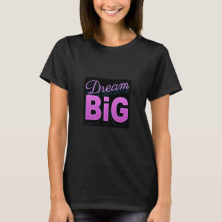 Dream big retro style pink black neon 80s t shirts