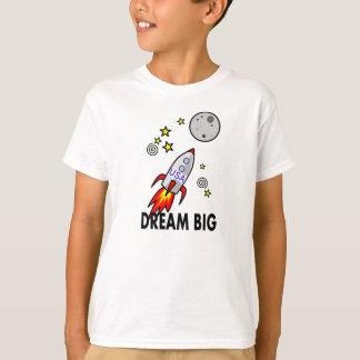 Dream Big Rocket to the Moon Cartoon T-Shirt