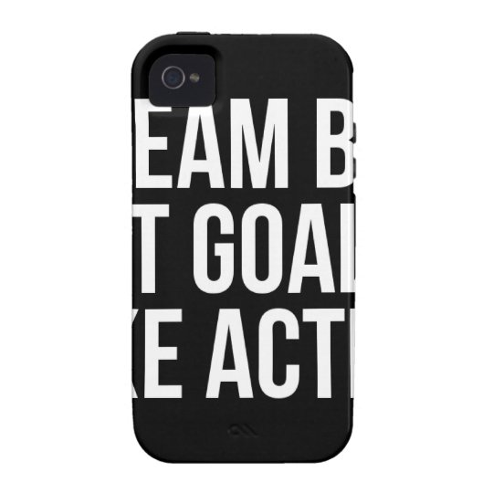Dream Big Set Goal Take Action Motivational Quote iPhone 4/4S Case