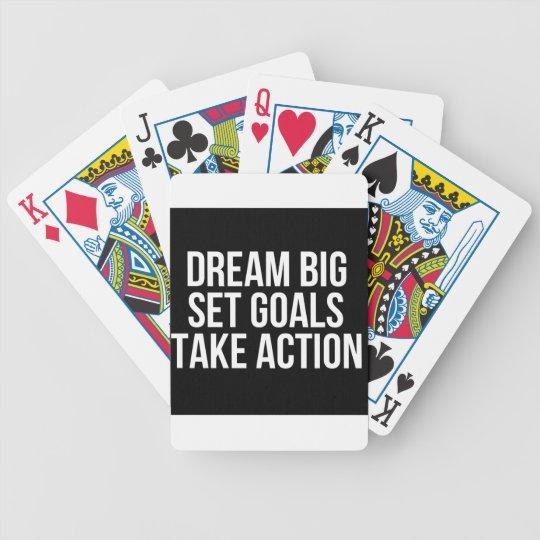 Dream Big Set Goal Take Action Motivational Quote Poker Deck