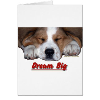 Dream Big Sleeping St. Bernard Mix Card
