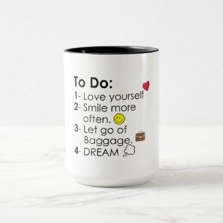 Dream Big To Do List Mug
