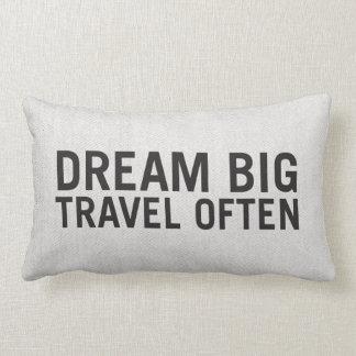 Dream  Big, Travel Often | Lumbar Pillow