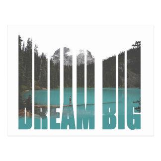 Dream Big Typography Postcard