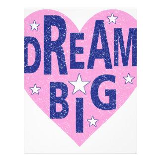 Dream big vintage heart letterhead