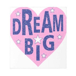 Dream big vintage heart notepad