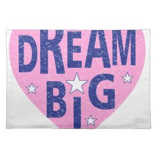 Dream big vintage heart placemat