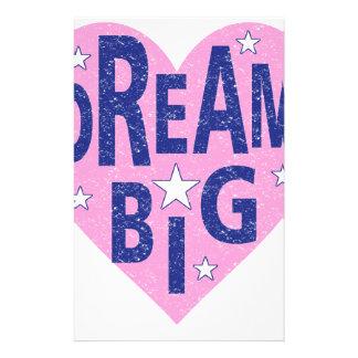 Dream big vintage heart stationery
