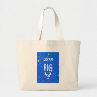 DREAM BIG wisdom script text motivational GIFTS Canvas Bag