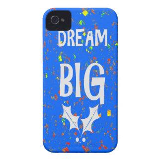 DREAM BIG wisdom script text motivational GIFTS Case-Mate iPhone 4 Case