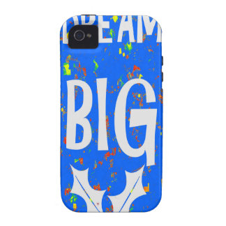 DREAM BIG wisdom script text motivational GIFTS Case For The iPhone 4