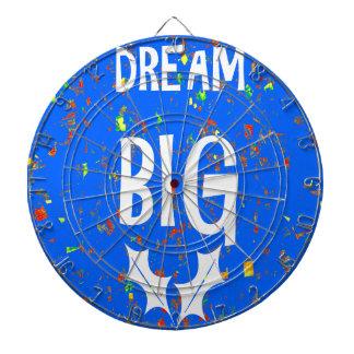 DREAM BIG wisdom script text motivational GIFTS Dartboards