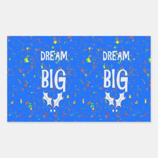 DREAM BIG wisdom script text motivational GIFTS Rectangular Stickers