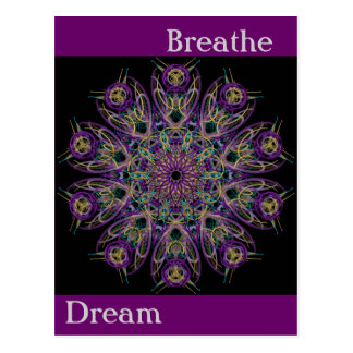 Dream Breathe Mandala Postcard