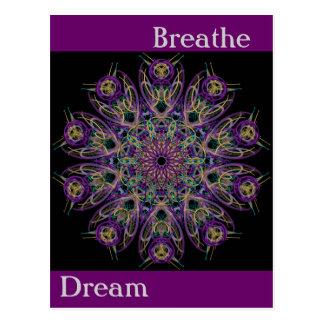 Dream Breathe Mandala Postcard