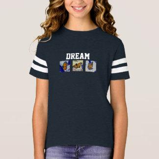 Dream Butterfly Girl's Football Shirt