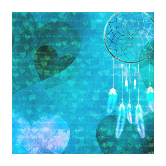 Dream Catcher and Hearts Canvas Print