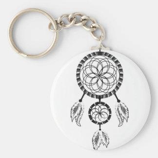 Dream catcher basic round button keychain