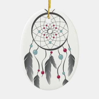 Dream Catcher Ceramic Ornament
