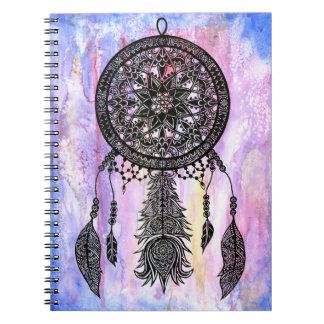 Dream Catcher Design w/ Watercolor Backdrop Notebook