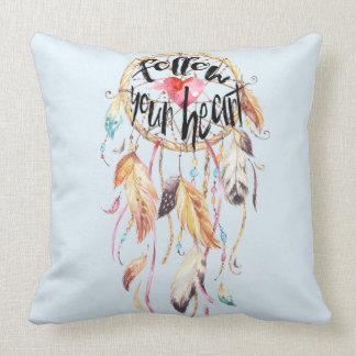 Dream Catcher Follow your heart Throw Pillow