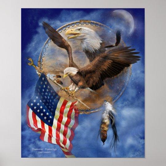 Dream Catcher - Freedom Eagle Art Poster/Print Poster