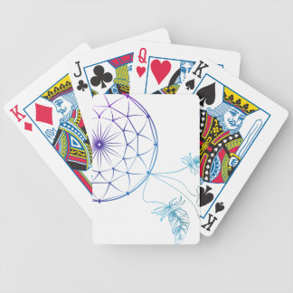 dream catcher on white background poker deck