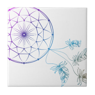 dream catcher on white background tile