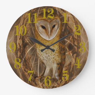 Dream catcher owl large clock