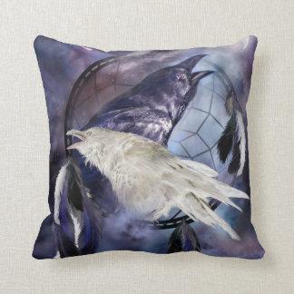 Dream Catcher - Raven Spirits Art Designer Pillow