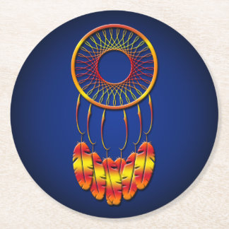 Dream Catcher Round Paper Coaster