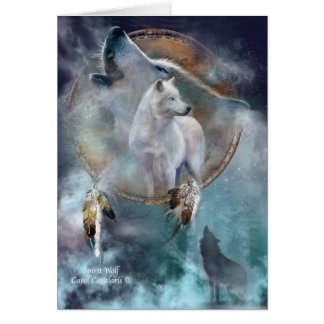 Dream Catcher Series -Spirit Wolf ArtCard Card