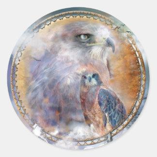 Dream Catcher - Spirit Hawk Art Sticker