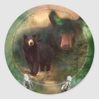 Dream Catcher - Spirit Of The Bear Sticker