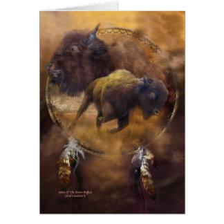 Dream Catcher-Spirit Of The Brown Buffalo ArtCard Card