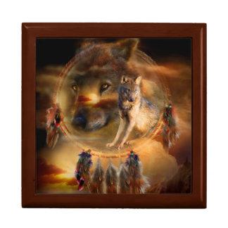 Dream Catcher - Spirit Wolves Art Giftbox Gift Box