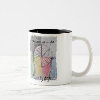 Dream Catcher Two-Tone Coffee Mug