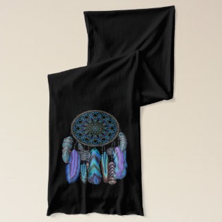 Dream catcher with a magic bird turquoise feathers scarf