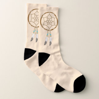 Dream Catcher with Feathers and Turquoise Beads 1